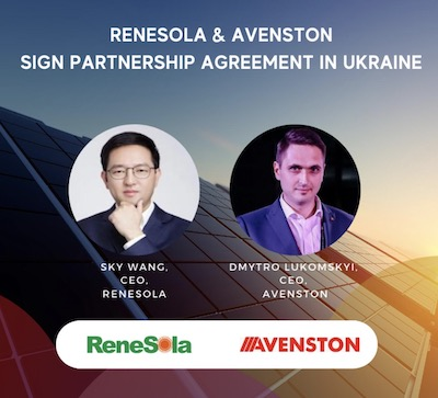 ReneSola Avenston Partnership