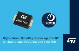 Low-Profile Surface-Mount Schottky Diodes from STMicroelectronics Boost Power Density and Efficiency