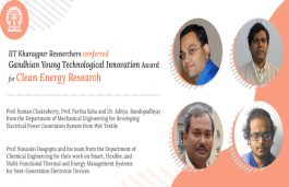 IIT Kharagpur Team Awarded for Generating Power From Wet Clothes