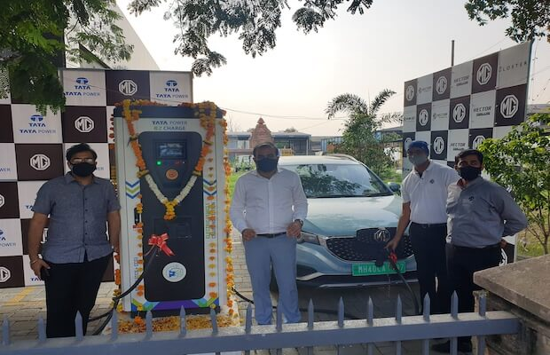 MG Tata EV Charging Nagpur