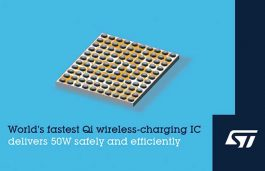 STMicroelectronics Unveils World's Fastest 50W Qi Wireless-Charging IC