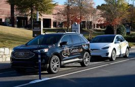Peachtree Corners Smart City and The Ray Install USA's First Road Surface Solar Panels on Autonomous Vehicle Lane
