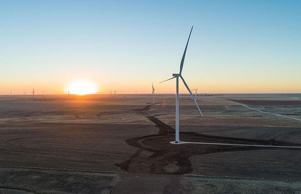 Cimarron Bend wind farm in Kansas