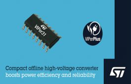 STMicroelectronics Extends VIPerPlus Power Family with Highly Integrated Offline Converter