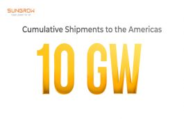 Sungrow Cumulative Shipments to the Americas Cross 10 GW Mark