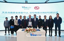 Trina Solar first PV manufacturer to obtain a dual Environmental Protection Certification