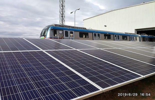 AMP Solar for Hyderabad Metro