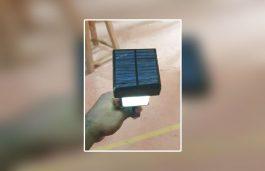 3d Incise Solar Garden Lamp