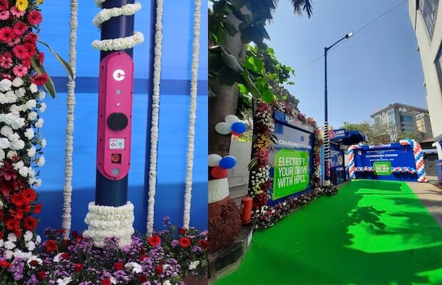 Magenta & HPCL Install First set of Street Lamp Integrated EV Chargers