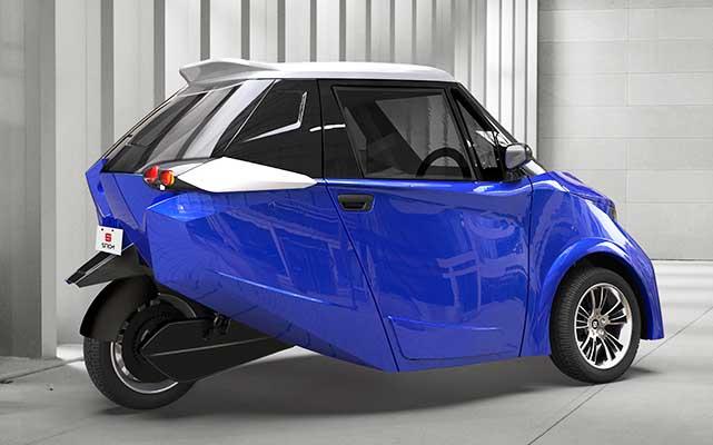 strom r3 blue electric car