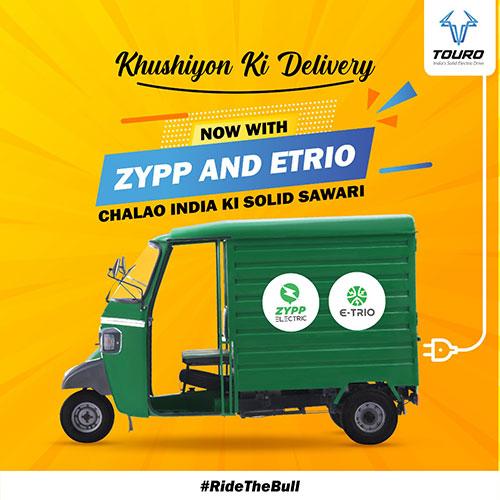Etrio partners with Zypp Electric