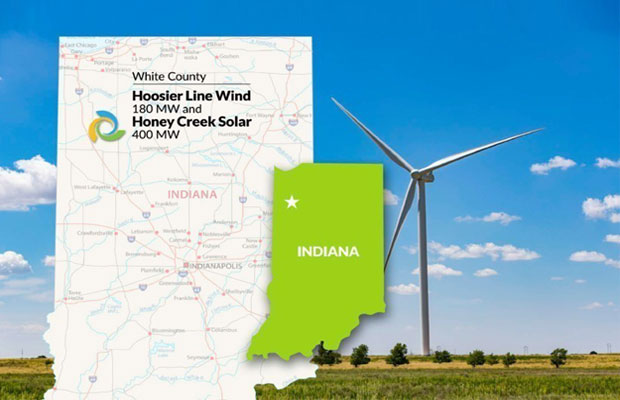 Hoosier Line Wind and Honey Creek Solar represent Tri Global Energy's first renewable energy projects in White County, Indiana