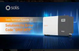 "Solis Seminar Episode 22: Solutions for Error Code ""GRID INTF"""
