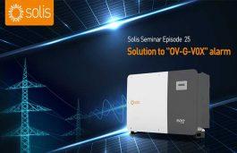 "Solis Seminar : Solution to ""OV-G-V0X"" alarm"
