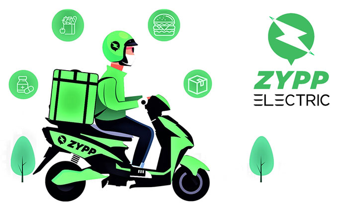 delivery through Zypp Electric vehicle 2 wheelers