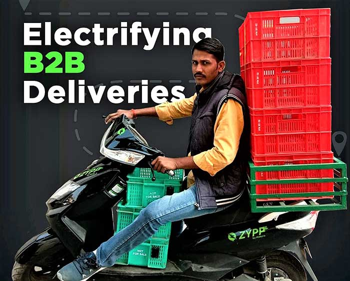 delivery through Zypp EV 2 wheelers