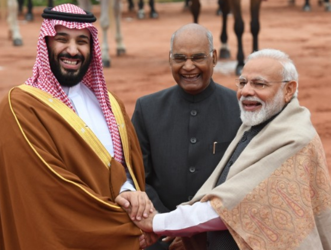 MBS and PM Modi During a State Visit To India