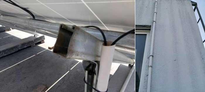 metal bracket and grounding grid metal