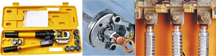 Aluminum Core Cables - equipment and crimp the wires